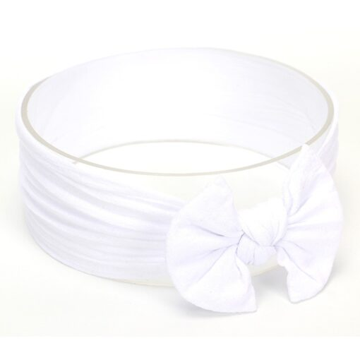 Hot Sale Cute Toddler Infant Baby Boys Girls Bowknot Headband Hairband Headwear Accessories Solid bandeau bebe 3