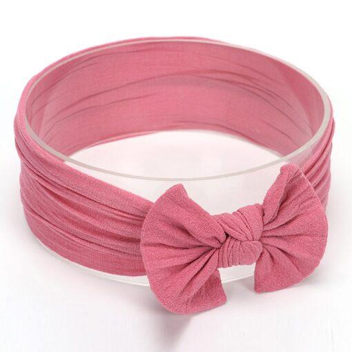 Hot Sale Cute Toddler Infant Baby Boys Girls Bowknot Headband Hairband Headwear Accessories Solid bandeau bebe 4