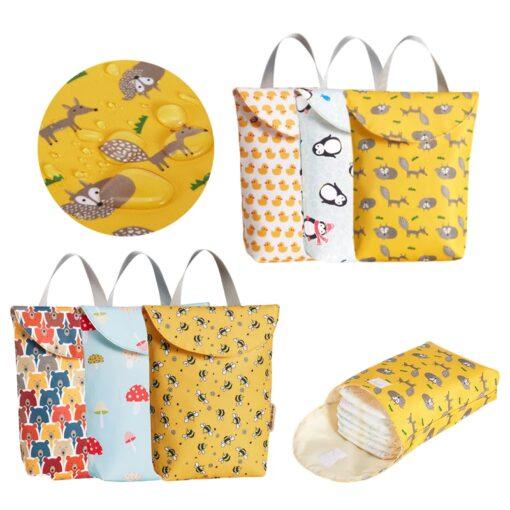 Hot Sale Multifunctional Baby Diaper Bags Reusable Fashion Waterproof Diaper Organizer Portable Big Capacity Mummy Bag