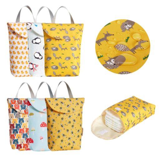 Hot Sale Multifunctional Baby Diaper Bags Reusable Fashion Waterproof Diaper Organizer Portable Big Capacity Mummy Bag 6