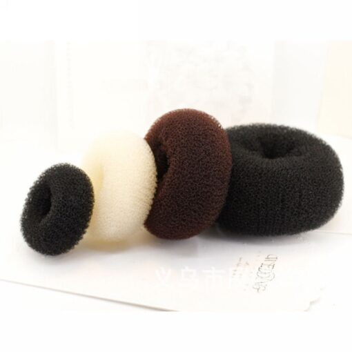 Hot fashion popular 4 Sizes Cute Baby Hair Styling Ring Style Dispenser Buns Head Tool Hair 2