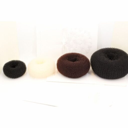 Hot fashion popular 4 Sizes Cute Baby Hair Styling Ring Style Dispenser Buns Head Tool Hair 3