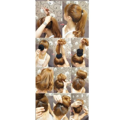 Hot fashion popular 4 Sizes Cute Baby Hair Styling Ring Style Dispenser Buns Head Tool Hair 5