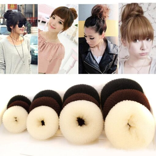 Hot fashion popular 4 Sizes Cute Baby Hair Styling Ring Style Dispenser Buns Head Tool Hair