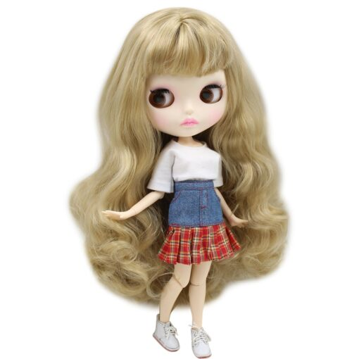 ICY Nude Blyth Doll Matte Face 8 kinds of hair color with big breast Joint body 1
