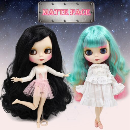 ICY Nude Blyth Doll Matte Face 8 kinds of hair color with big breast Joint body