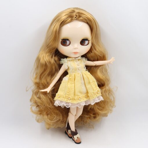 ICY factory Blyth doll 1 6 BJD customized nude joint body with white skin glossy face 1