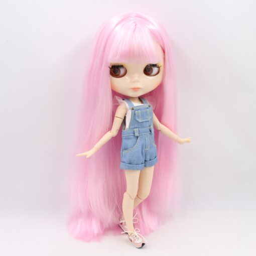 ICY factory Blyth doll 1 6 BJD customized nude joint body with white skin glossy face 5