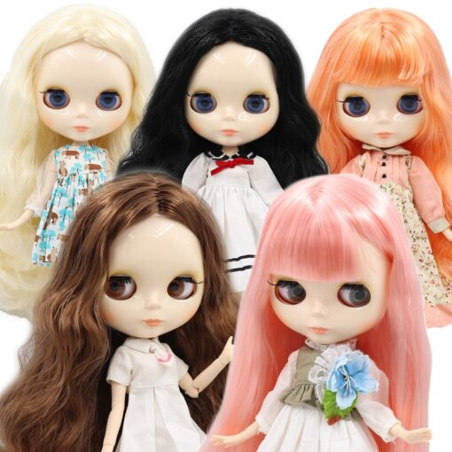 ICY factory Blyth doll 1 6 BJD customized nude joint body with white skin glossy face