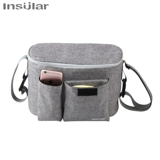 INSULAR Baby Stroller Bag Organizer Bottle Cup Holder Diaper Bags Maternity Nappy Bag Accessories for Portable 1