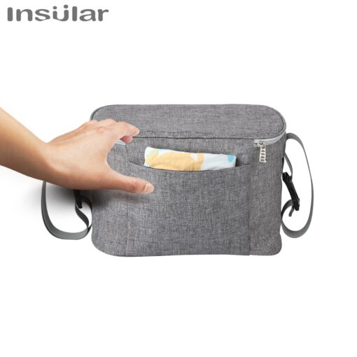 INSULAR Baby Stroller Bag Organizer Bottle Cup Holder Diaper Bags Maternity Nappy Bag Accessories for Portable 3