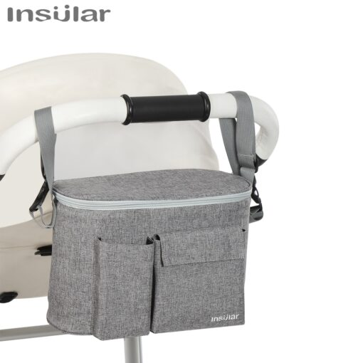 INSULAR Baby Stroller Bag Organizer Bottle Cup Holder Diaper Bags Maternity Nappy Bag Accessories for Portable