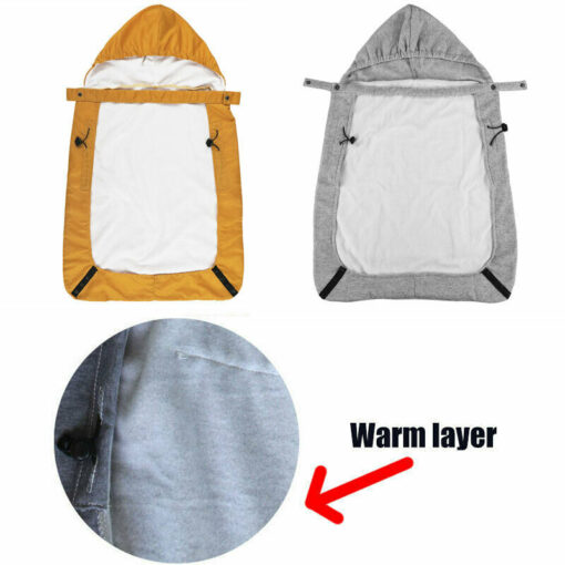 Imcute 2020 Newborn Baby Winter Cover Brand Baby Warm Cover Windproof Cloak Blanket Baby Carrier Funtional 2
