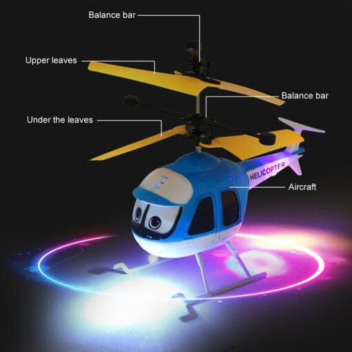Induction Flying Toys RC Helicopter Cartoon Remote Control Drone For Kid Plane Floating Toys With Flashing 1