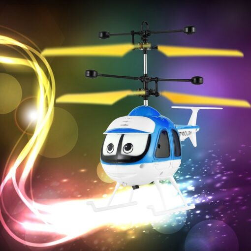 Induction Flying Toys RC Helicopter Cartoon Remote Control Drone For Kid Plane Floating Toys With Flashing 2