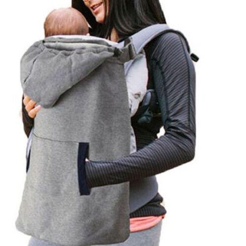 Infant Baby Carrier Wrap Comfort Sling Winter Warm Cover Cloak Blanket Grey Backpacks Carrier 2