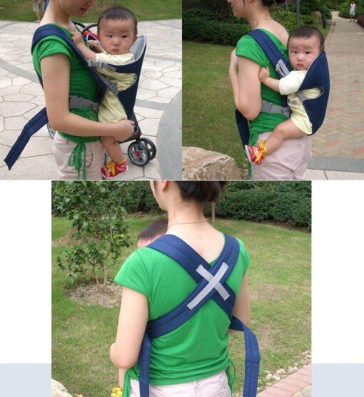 Infant Baby Kangaroo Backpack Carrier Ergonomic Baby Carrier Wrap Breathable Baby Sling Adjustable Comfort Infant Hipseat 4