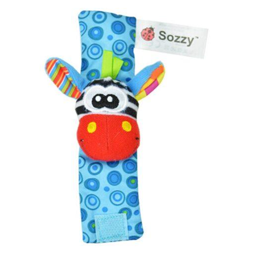 Infant Baby Kids Socks Rattle Toys Wrist Rattle And Non slip Foot Socks 0 24 Months 5