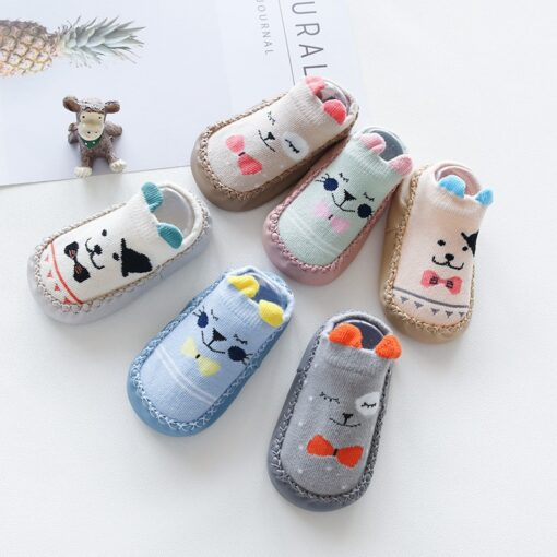 Infant Baby Socks With Rubber Soles Newborn Baby Girls Boys Shoes Autumn Baby Floor Socks Anti 1
