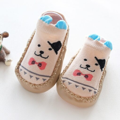 Infant Baby Socks With Rubber Soles Newborn Baby Girls Boys Shoes Autumn Baby Floor Socks Anti 2