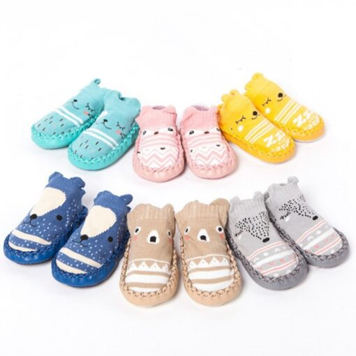 Infant Baby Socks With Rubber Soles Newborn Baby Girls Boys Shoes Autumn Baby Floor Socks Anti