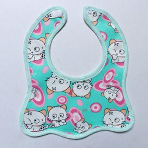 Infant Bib Cartoon Printing Cotton Snap on Waterproof Anti dirty Baby Bib Children Print Saliva Towel 4
