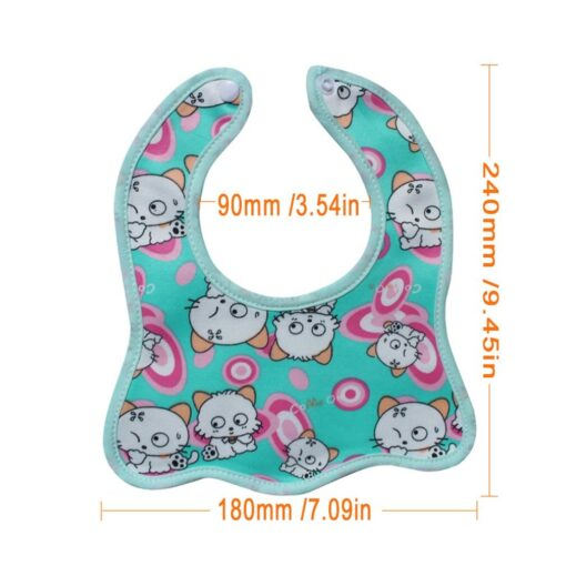Infant Bib Cartoon Printing Cotton Snap on Waterproof Anti dirty Baby Bib Children Print Saliva Towel 5