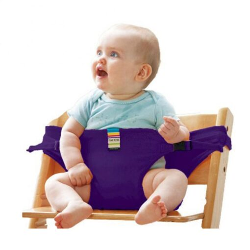 Infant Chair Portable Seat Wrap Dining Lunch Chair Seat Safety Belt Stretch Wrap Feeding Chair Harness 3