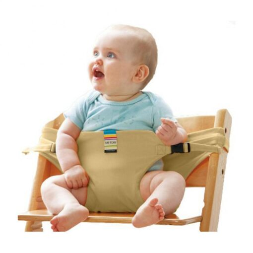 Infant Chair Portable Seat Wrap Dining Lunch Chair Seat Safety Belt Stretch Wrap Feeding Chair Harness 4