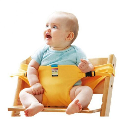 Infant Chair Portable Seat Wrap Dining Lunch Chair Seat Safety Belt Stretch Wrap Feeding Chair Harness 5
