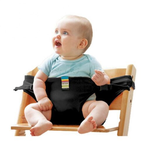 Infant Chair Portable Seat Wrap Dining Lunch Chair Seat Safety Belt Stretch Wrap Feeding Chair Harness