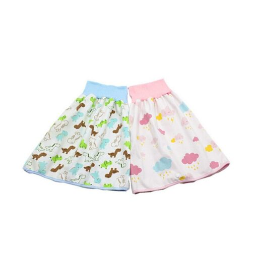 Infant Children Dwaterproof Water Diaper Skirt Washable Reusable Urine Cushion Baby Diaper Cotton Newborn Training Diaper 4