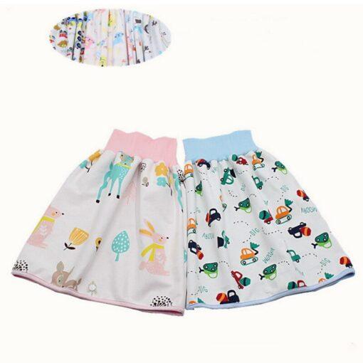 Infant Children Dwaterproof Water Diaper Skirt Washable Reusable Urine Cushion Baby Diaper Cotton Newborn Training Diaper 5