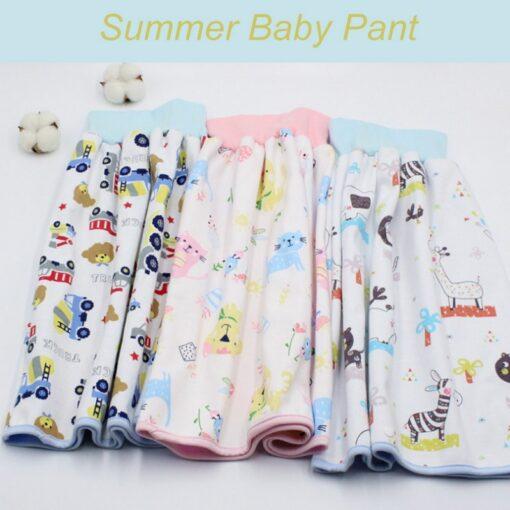 Infant Children Dwaterproof Water Diaper Skirt Washable Reusable Urine Cushion Baby Diaper Cotton Newborn Training Diaper
