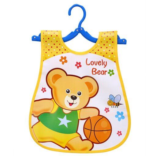 Infant Kid Infant Bibs Baby Soft Cartoon Bib Waterproof Saliva Dripping Bibs Burp Cloths Cartoon Eating 3