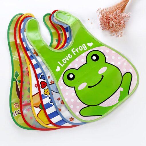 Infant Kid Infant Bibs Baby Soft Cartoon Bib Waterproof Saliva Dripping Bibs Burp Cloths Cartoon Eating 4