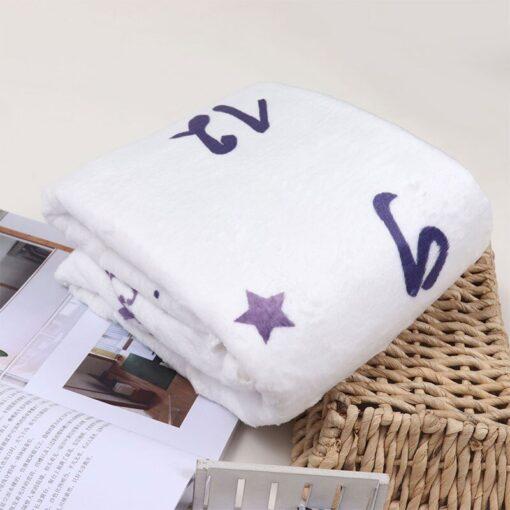 Infant Photography Props Blanket Soft Fleece Newborn Baby Monthly Growth Milestone Background Photo Props Stroller Blanket 5