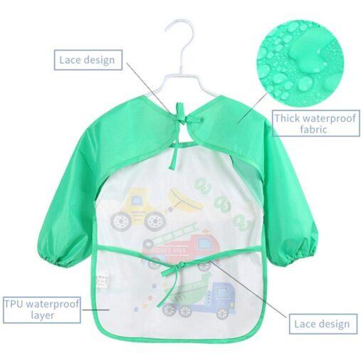 Infant Toddler Baby Waterproof Long Sleeve Bib Burp Newborn Kids Clothes Cartoon Smock Feeding Accessories New 3