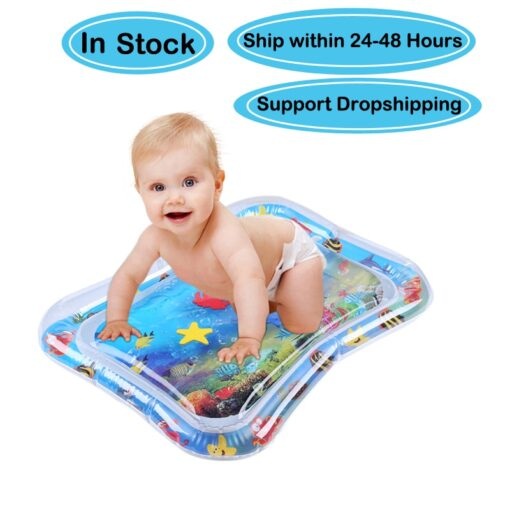 Infants Summer Beach Water Mat Toddler Fun Activity Play Toys for Motor Skills Necessary Baby Inflatable