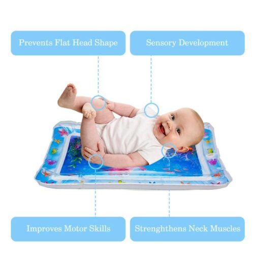Inflatable Infants Tummy Time Activity Mat Baby Play Water Mat Toys for Kids Mat Summer Swimming 4