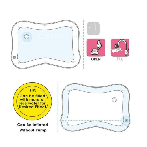 Inflatable Infants Tummy Time Activity Mat Baby Play Water Mat Toys for Kids Mat Summer Swimming 5
