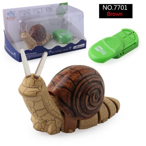 Infrared Remote Control Strange New Product Infrared Remote Control Small Snail Lamp With Light Electric Insect 1
