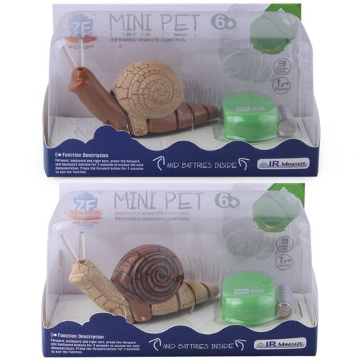 Infrared Remote Control Strange New Product Infrared Remote Control Small Snail Lamp With Light Electric Insect 4