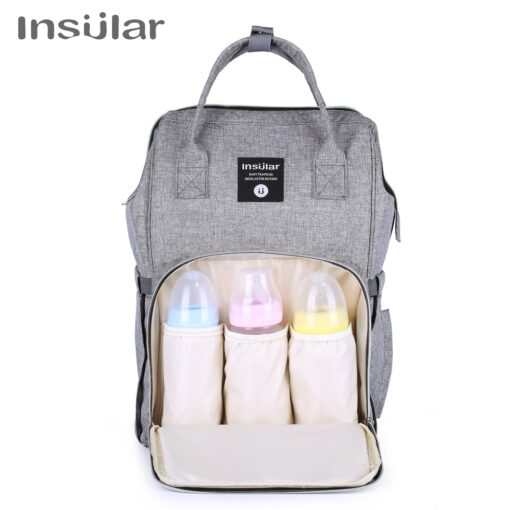 Insular Brand Nappy Backpack Bag Mummy Large Capacity Stroller Bag Mom Baby Multi function Waterproof Outdoor 2