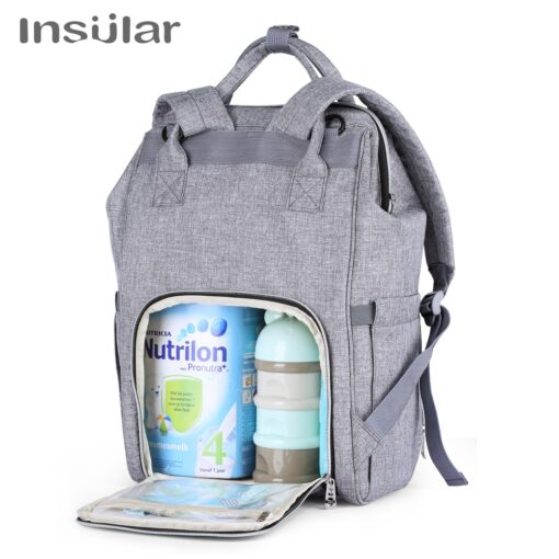 Insular Brand Nappy Backpack Bag Mummy Large Capacity Stroller Bag Mom Baby Multi function Waterproof Outdoor 4