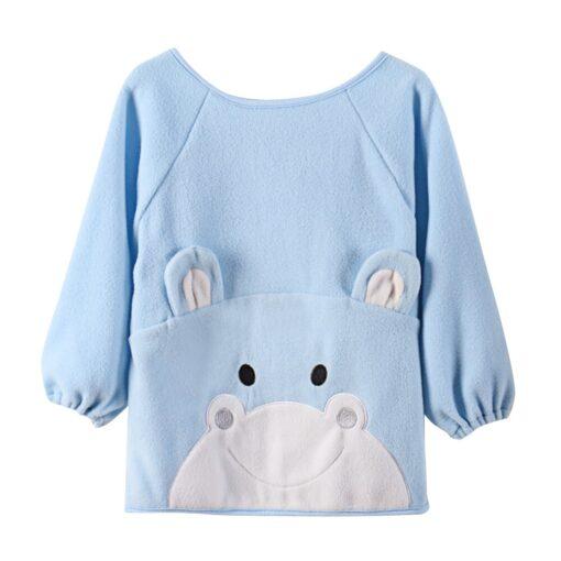 JOCESTYLE New Baby Kids Children Cute Cartoon Winter Fleece Art Smock Bib Soft Apron Dropshipping 9
