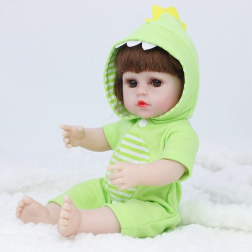 JULY S SONG 38CM Full Silicone Drinking Water Pee Body Reborn Baby Doll Toy For Girl 2