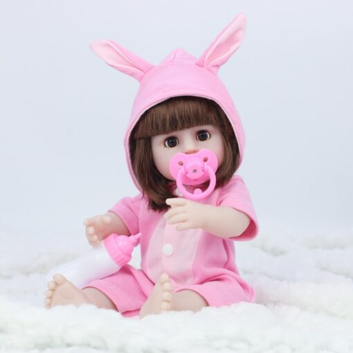 JULY S SONG 38CM Full Silicone Drinking Water Pee Body Reborn Baby Doll Toy For Girl