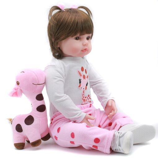 JULY S SONG 47 58CM Reborn Dolls Lifelike Blue Brown Green Eyes Soft Reborn Baby Doll 2