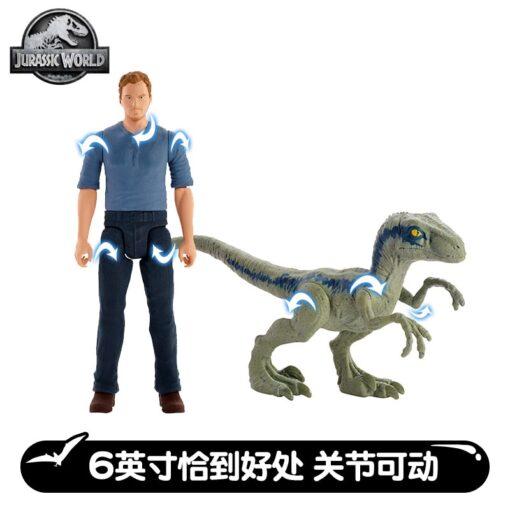 JURASSIC WORLD OWEN TYRANNOSAURUS REX INDOMINUS REX VELOCIRAPTOR BLUE Model Action Figure Puppets Toys 1
